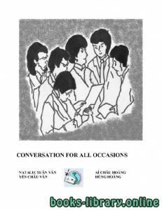 قراءة و تحميل كتاب CONVERSATION FOR ALL OCCASIONS PDF