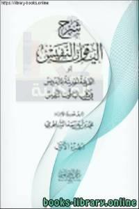 قراءة و تحميل كتاب  شرح الياقوت النفيس الجزء الأول الطهارة - الحج PDF