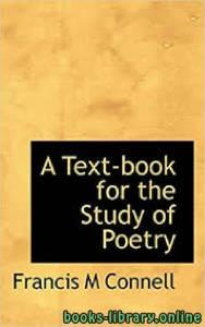 قراءة و تحميل كتاب A text-book for the study of poetry PDF