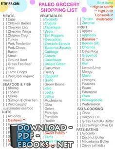 قراءة و تحميل كتاب Paleo Diet Food List PDF PDF