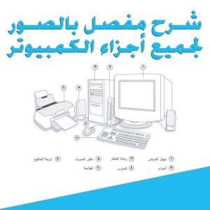 قراءة و تحميل كتاب شرح مفصل بالصور لجميع أجزاء الكمبيوتر  PDF
