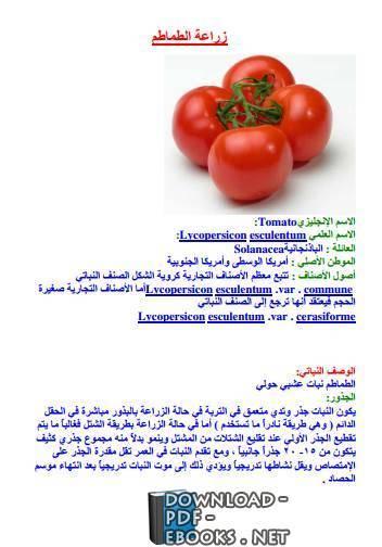 قراءة و تحميل كتاب زراعة الطماطم  PDF